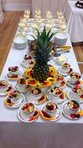 funeral food on a table
