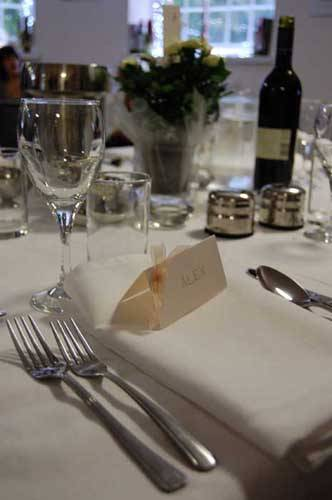 close up of table and cutlery