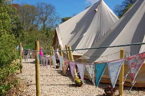 wedding tents being held up