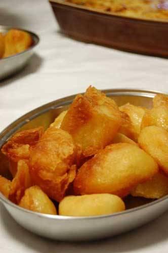 roast potatoes in a tray