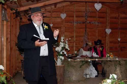 man performing a wedding