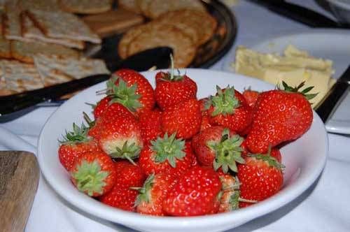 strawberries in a dish