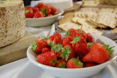 strawberries in dish