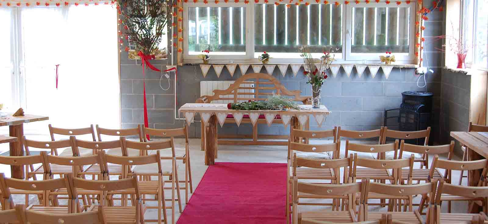 inside the wedding venue