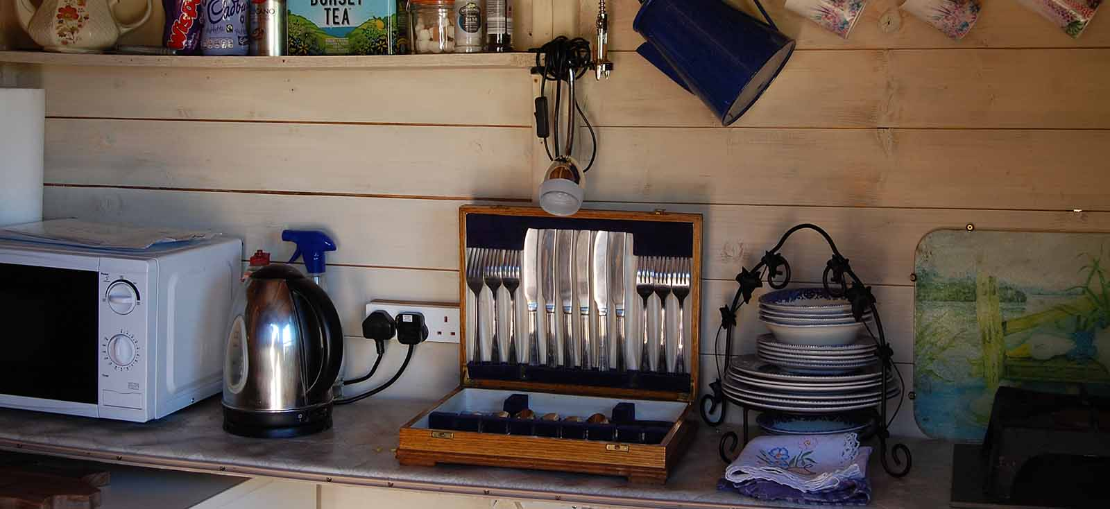 interior catering section of the glamping pop