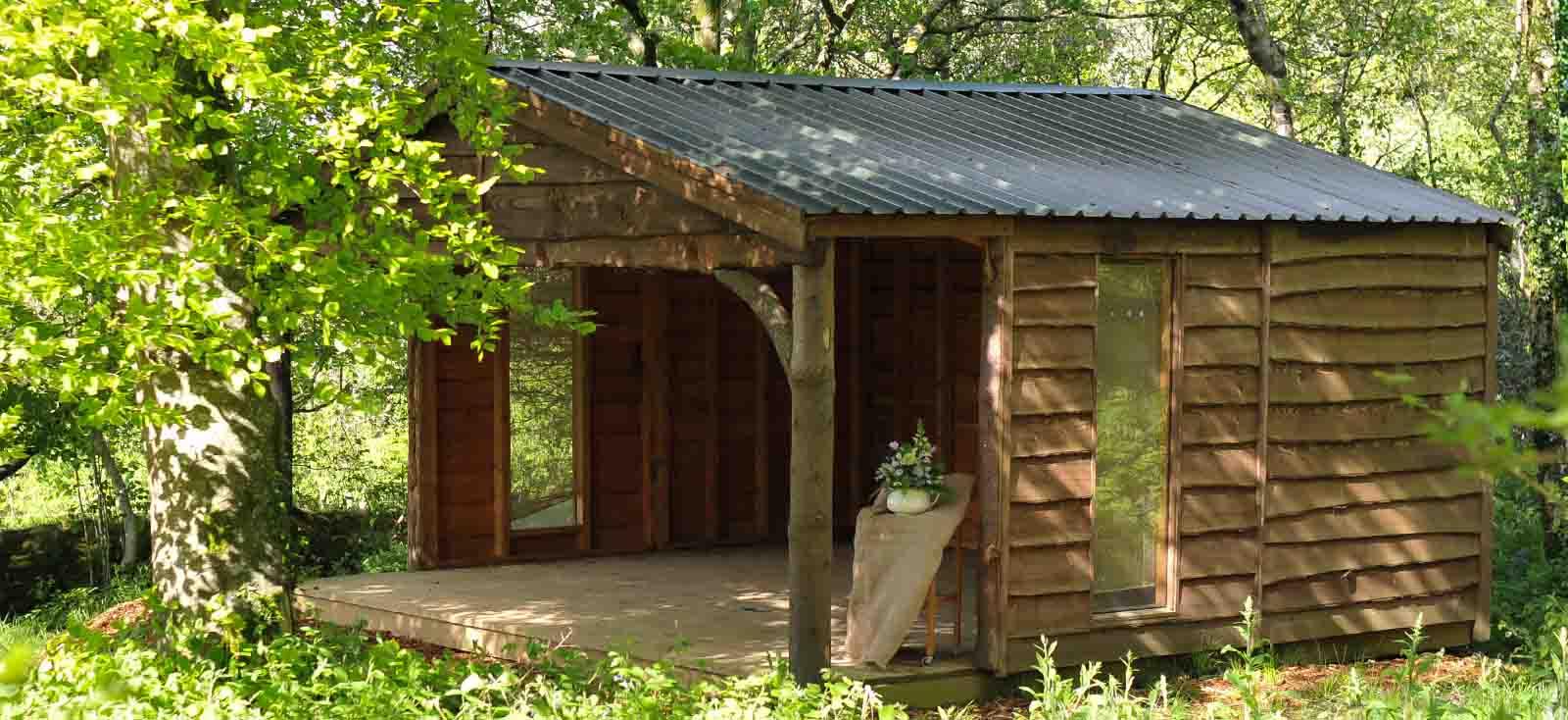 woodland wedding pavilion